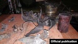 SPIKE հրթիռի բեկորները, լուսանկարը՝ ԼՂ ՊՆ-ի