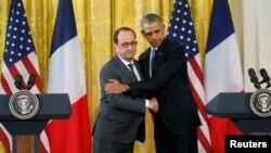 ԱՄՆ և Ֆրանսիայի նախագահները Սպիտակ տանը համատեղ ասուլիսի ժամանակ, Վաշինգտոն, 24-ը նոյեմբերի, 2015թ.