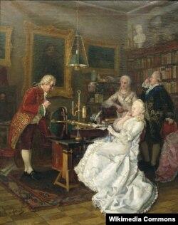 Иван Федоров. Императрица Екатерина II у М.В. Ломоносова. 1884