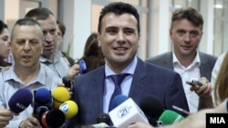 Macedonian opposition leader Zoran Zaev. (file photo)
