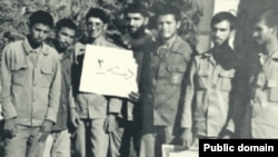 "Mojtaba Khamenei during the Iran-Iraq war in ""Habib Battalion"". Most of his former comrades in this photo are now key security officials."