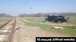 ДТП на железнодорожном переезде под Армянском (архивное фото)
