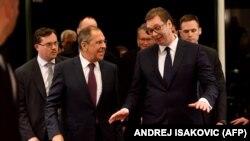 Aleksandar Vučić i Sergej Lavrov tokom susreta u Beogradu 2018.