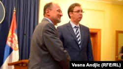 Jelko Kacin i Aleksandar Vučić, Beograd, 19. septembar 2013.