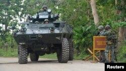نیروهای فلیپینی در ۲۷ فوریه در حال بازرسیهایی مربوط به گروگان آلمانی هستند