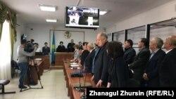 Судебное заседание по делу о «хищении нефти». Актобе, 3 октября 2018 года.
