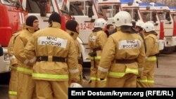 Сотрудники управления МЧС России в Крыму