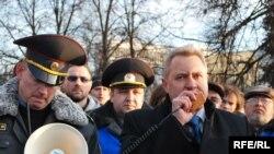 Ігар Яўсееў, Аляксандар Ластоўскі, Леанід Фармагей на Дні Волі 25 сакавіка 2010 году.