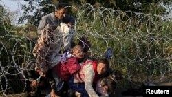 Migranti su često tražili put kroz žičanu ogradu na mađarsko-srpskoj granici
