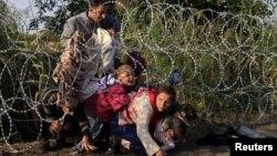 Забор на венгерско-сербской границе