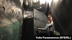 Ирина Горшкова в сгоревшем доме