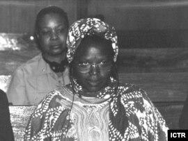 Former Rwandan cabinet minister Pauline Nyiramasuhuko