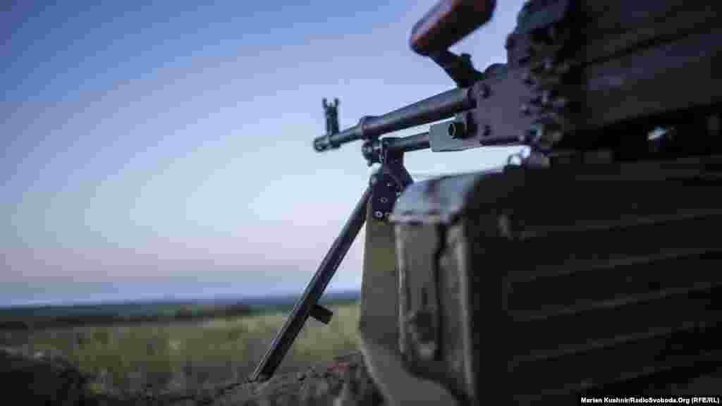 Кулемет на прізвисько «Лелека» на одній із позицій грузинів