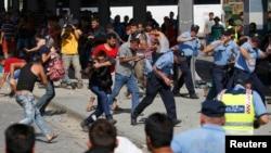 درگیری پناهجویان سوری و افغان با پلیس کرواسی