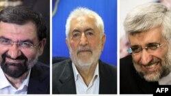 از راست: سعید جلیلی، محمد غرضی، محسن رضایی
