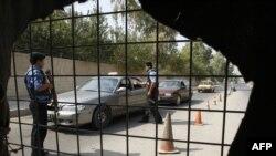 نقطة تفتيش في وسط بغداد