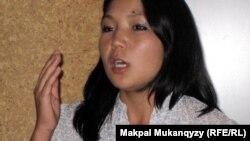 Инга Иманбай, гражданская активистка. Алматы, 18 августа, 2011 года.