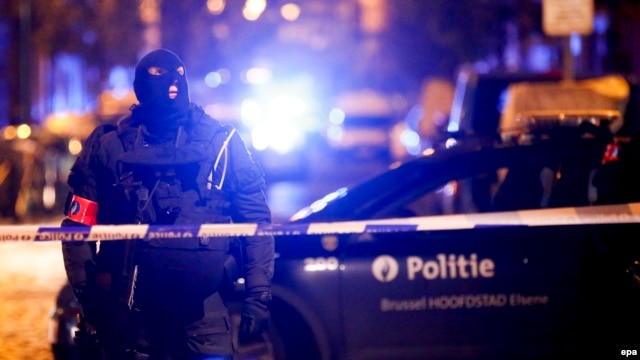 Belgian security forces conduct an operation in Molenbeek in November.