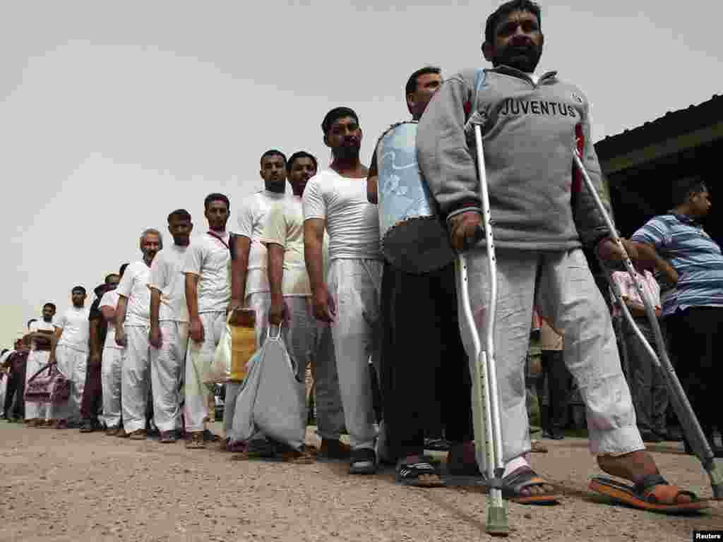 Ірак. Каля 120 затрыманых былі вызваленыя ў чацьвер з турмы ў Багдадзе пасьля таго, як яны былі прызнаныя невінаватымі.