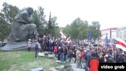 Митинг белорусской оппозиции в Минске