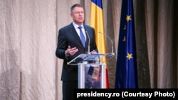 Preşedintele României, Klaus Iohannis.