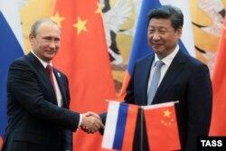 Си Цзиньпин и Владимир Путин в Пекине. 3 сентября 2015 года