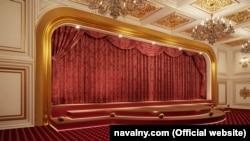 A palota része egy színházterem is (a kép rekonstrukció)