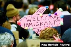 Акція проти імміграційних обмежень Дональда Трампа у Сан-Франциско, 29 січня 2017 року