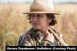 Наталія Ворожбит під час зйомок фільму «Погані дороги»