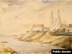 Сафійскі сабор у Полацку, малюнак Напалеона Орды, 1875 год