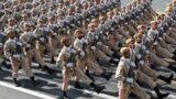 Tehran, Iran - Iranian armed forces members march during the ceremony of the National Army Day parade in Tehran, Iran September 22, 2019