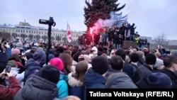 Акция протеста в Петербурге, 23 января