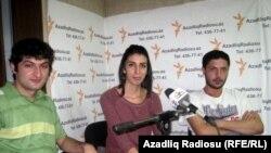 Üzeyir Məmmədli,Aygül Pəncəliyeva və Etibar Salmanlı