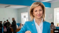 Ирина Влах, независимый кандидат на выборах главы Гагаузской автономии в составе Молдовы. 22 марта 2015 года.