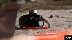 На місці нападу: рюкзак нападника, в якому була вибухівка