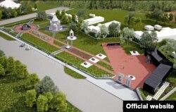 Проект строящегося мемориального комплекса, посвященного жертвамо концлагеря на территории совхоза «Красный» Симферопольского района