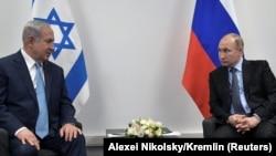 Kryeministri izraelit, Benjamin Netanyahu dhe presidenti rus, Vladimir Putin