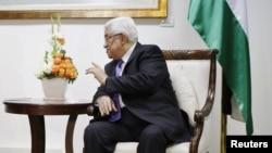 Палестинский лидер Махмуд Аббас. Рамалла, 21 марта 2013 года.
