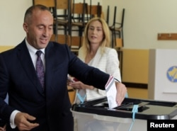 Ramush Haradinaj, the PDK-led coalition's candidate for prime minister, declared victory during a press conference in Pristina, though he did not provide specific numbers.