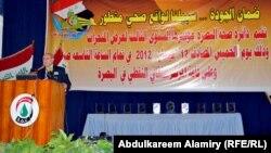 الدكتور رياض عبد الامير متحدثا عن انجازات البصرة الصحية
