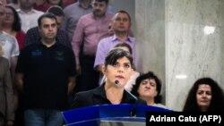 Laura Codruta Koevesi, la conferința de presă de după demiterea ei de către președinte, 9 iulie, 2018