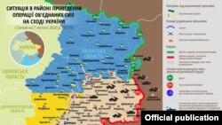 Ситуація в зоні бойових дій на Донбасі 7 лютого – карта