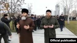 Муфтий Чечни Салах Межиев и глава Чечни Рамзан Кадыров (архивное фото)