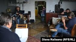 Trupa Trigon la repetiții înainte de a 13-a ediție a Festivalului Ethno Jazz de la Chișinău
