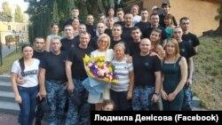 Ombudsmen Lüdmıla Denısova ve azat etilgen ukrain deñizciler, 2019 senesi, sentâbr 14