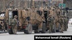 شماری از سربازان ناتو در کابل. March 25, 2020