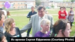 Сергей Ефремов в бытность директором интерната