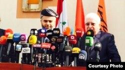 مؤتمر صحفي لمعصوم وبابير في اربيل، 04 أربيل 2015