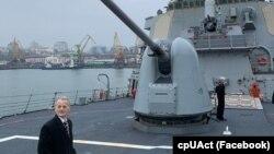 Мустафа Джемілєв відвідав в Одесі есмінець ВМС США Donald Cook