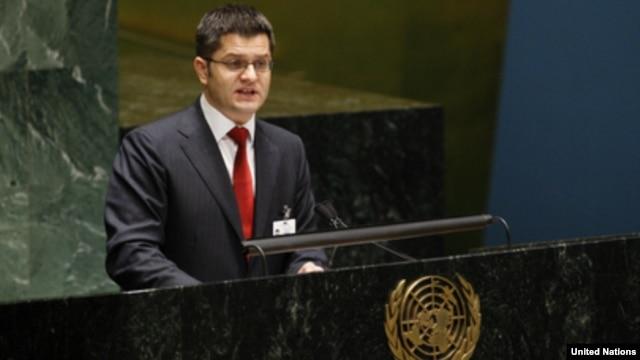Vuk Jeremić u Generalnoj skupštini UN